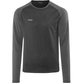 Bergans Slingsby Bluzka z długim rękawem Mężczyźni, black/solid charcoal